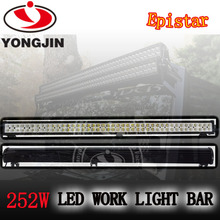 New 252w led off road light bars auto led work light bar for military,agriculture,marine,mining.