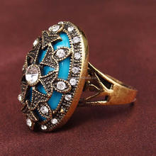 Bohemian style latest carved ring all stone wedding gift