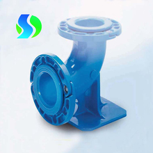Ductile Iron Pipe Fitting Flanged Socket 90deg Ductfood Bend with threaded branch for pvc pipe