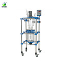 80L CE confirmed Glass reactor with reflow and distillation system