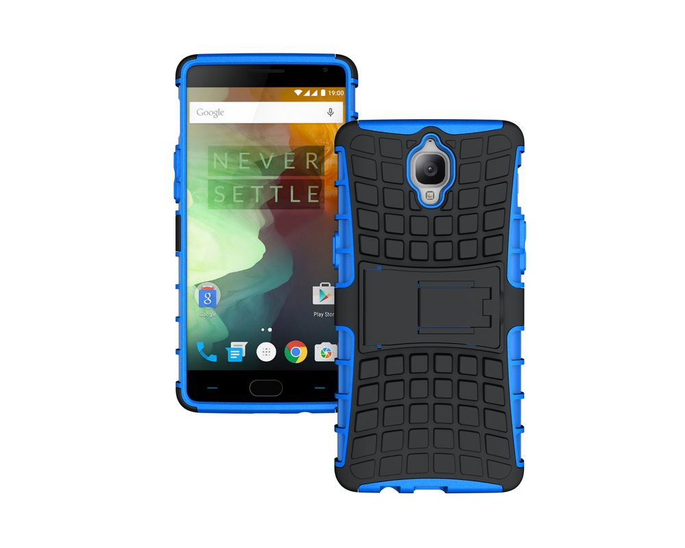 Hard Outer Shell Durable Polycarbonate Protect and Soft Inner TPU Cove Kickstand Case for OnePlus Three