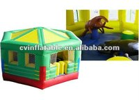 cheap inflatable hexagon bouncer house with animal toys for children