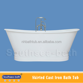 2% discount hot skirt cast iron tub