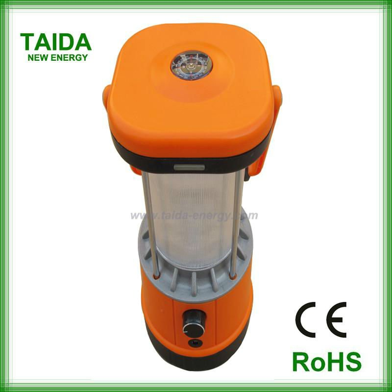 Rechargeable solar led lanterns for village home lighting