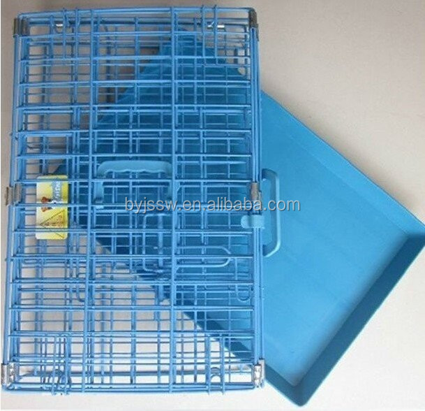 Steel Pink Dog Cage with Plastic Pallet