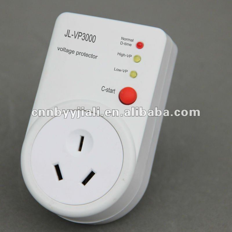 voltage protector JL-VP3000 AU type socket 220V 50HZ 15A with C-start button