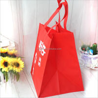 Promotional foldable personalized non-woven Laminated shopping trolley bags