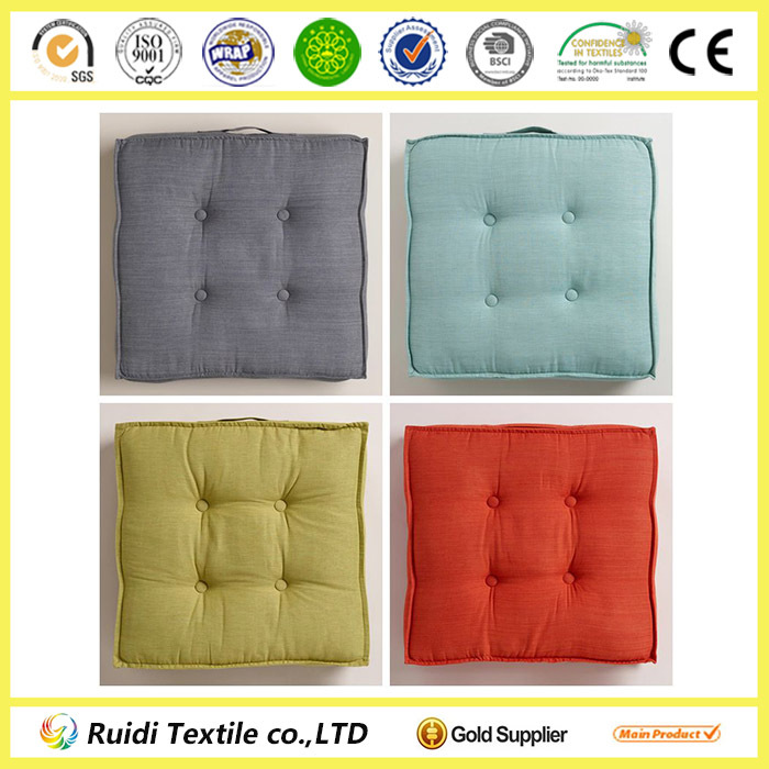 Chair Pad Seat Cushion Solid Color Tufted Floor Cushion