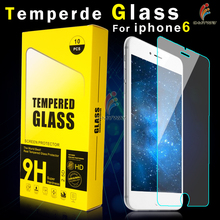 Factory direct sale anti shock for iphone 6 tempered glass screen protector with design