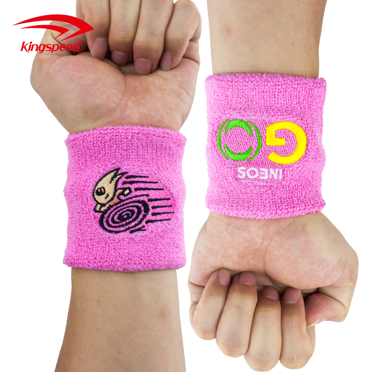 Custom colored cotton sport tennis sweatband with embroidery logo