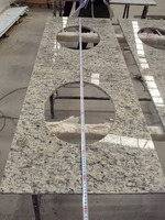 solid color prefab granite kitchen countertop