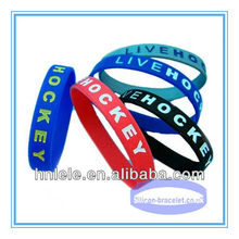 Custom Colour and Style Highest Quality Most Cheap Silicone Wristbands