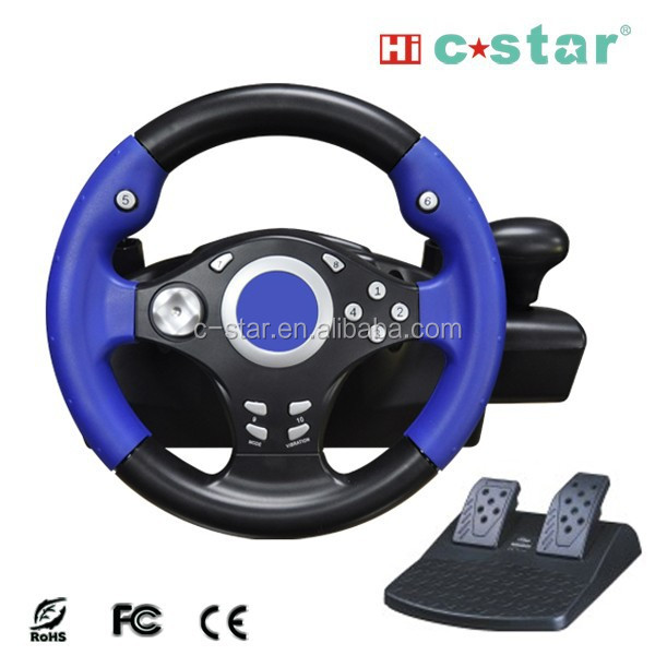 2017 Video game steering wheel for PS3/PS2/PS1/PS/PC racing wheel racing, game accessory