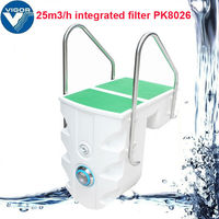 Acrylic / Plastic Swimming pool Change Sand Filter Filtration System