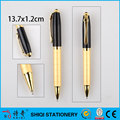 Golden engraved barrel metal pen, customised luxury pen