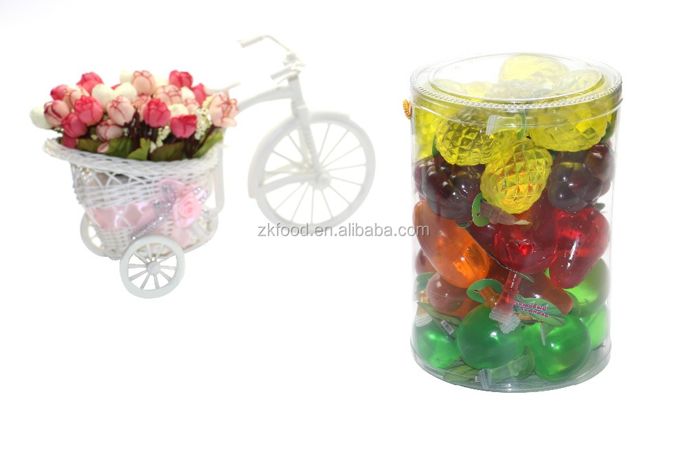 assorted mini gelatina Mixed Fruit shape fruit jelly Drink in jar