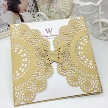 Ideal products laser cut wedding invitation cards butterfly wedding invitation cards