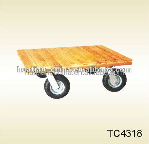Wooden Tool Cart/water cart,TC4318 powerful wooden Moving Dolly