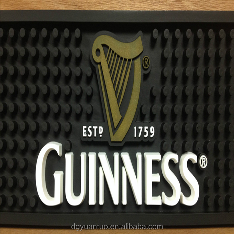 AY GUINNESS Custom Rubber Bar Mats with SGS Approved