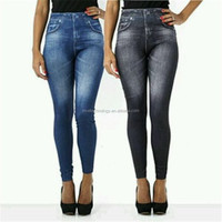 Hot Product Cheap Wholesale Sex Legging Pants False Jeans Demin