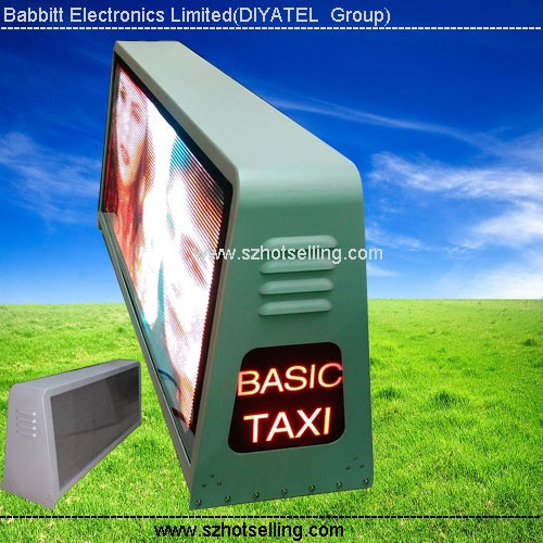 led board manufacturer P5 Taxi Top LED Sign (view size 960x320mm) taxi cab top lights