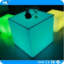Rechargeable 3D plastic LED grow light bar cube table and seat / battery powered LED mood light cube magic