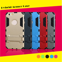 Hybrid Armor Style Dual Layer Rugged Kickstand Case cover for iphone 6/6s