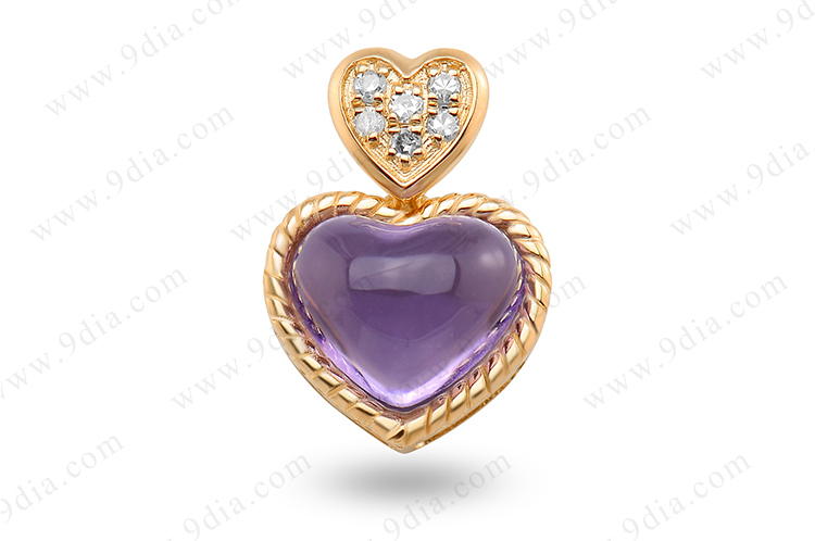 Best Selling Natural Amethyst Gemstone 14K Gold Jewelry Wholesale