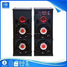 "China Professional Big Power 10"" Wooden Stage Speaker 2.0 Disco Sound System With Bluetooth USB SD FM DX027"