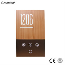 UK Design Modern Doorbell Touch Panel Logo Wooden Custom Metal Door Signs