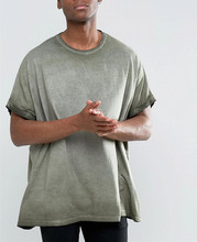 Latest shirt loose fit featured characters Roll Sleeve Pigment Dye tshirt <strong>design</strong> Oversized