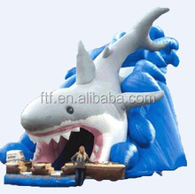 2014 commercial grade inflatable bouncer inflatable slide bouncer dolphin inflatable castle with slide for sale