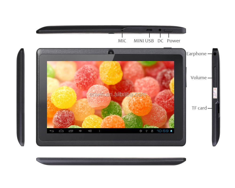 Cheap 7 inch Q88 tablet with Dual Core Dual Cameras