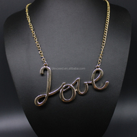 New arrival cute thin chain gold plated initials letter necklace
