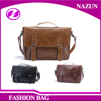 Wholesale Alibaba Waterproof PU Leather Shoulder Messenger Bags for men