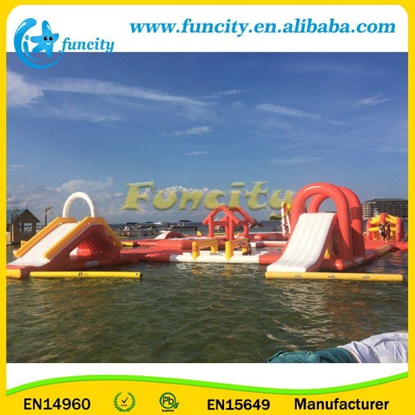 Custom Make Durable Used Giant Inflatable Floating Water Park/Inflatable Aqua Park For Sea