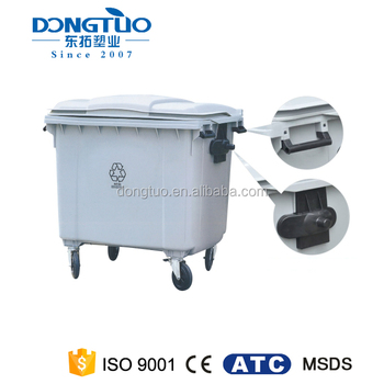 Factory directly wholesale large garbage cans covers, garbage cans with wheels