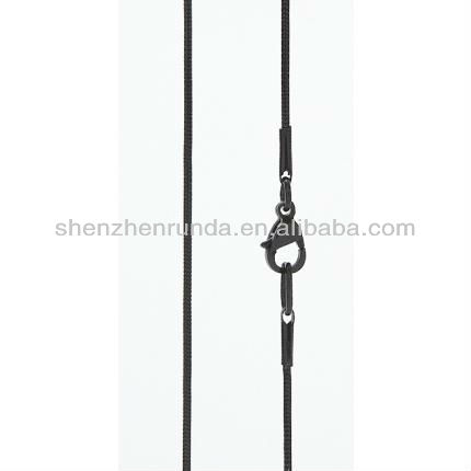 Wholesale Latest Design Brushed Black PVD Stainless Steel 1mm Snake Chain Necklace