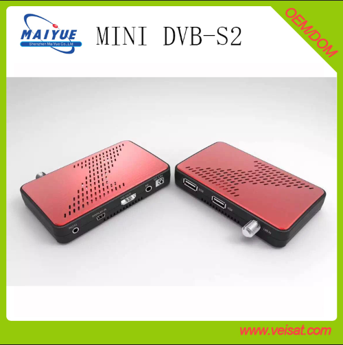 Smart Mini DVB-S2 Satellite Receiver in Set Top Box support IPTV