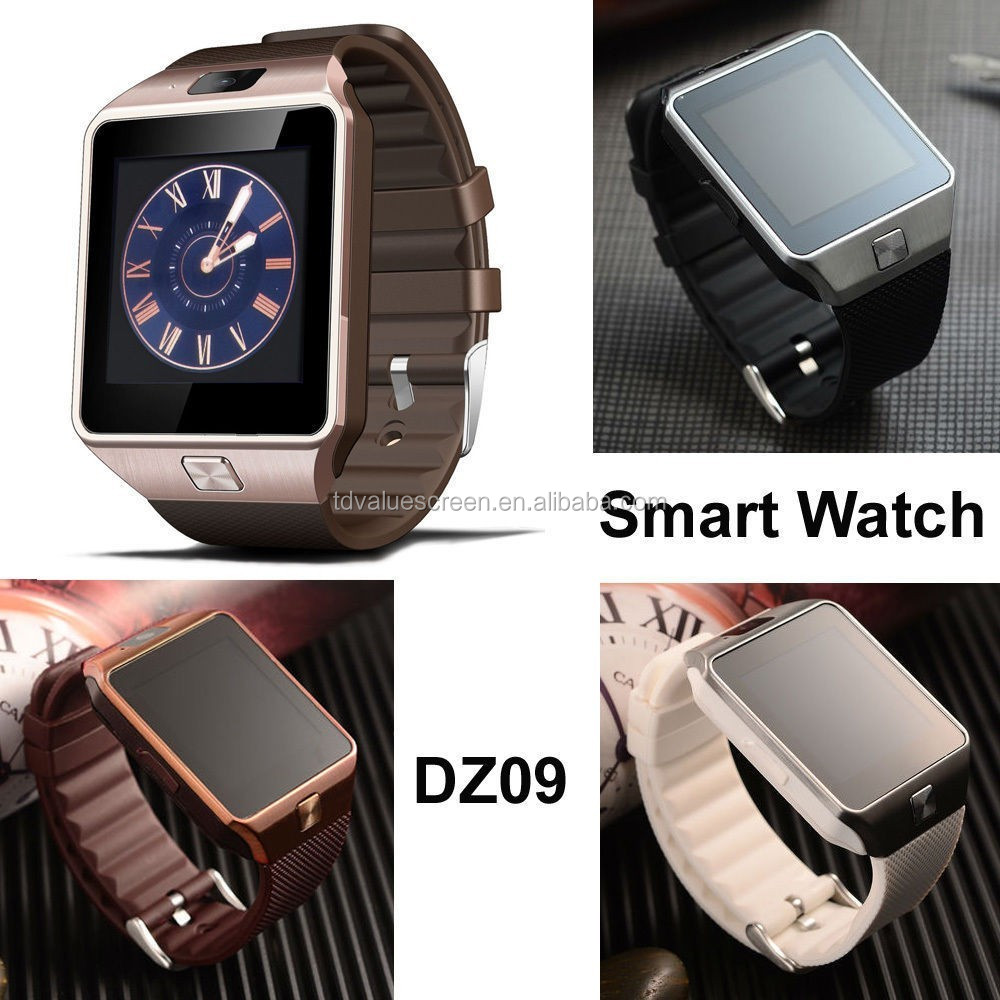 Wholesales dz09 bluetooth smart watch phone with whatsapp and facebook for adult