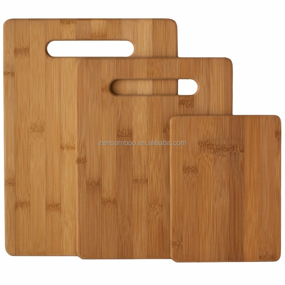 Grade one 3 piece kitchen bamboo /wood cutting board set