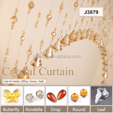 Crystal string curtain with beads