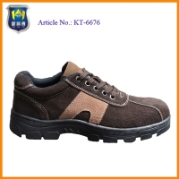 Brown suede leather ranger safety shoes