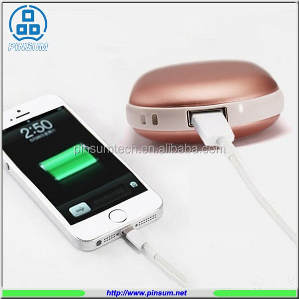 hand warmer usb rohs power bank for cell phone charge
