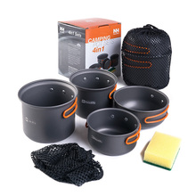 2-3 persons Camping Pot Sets Portable Outdoor Cookware Picnic Pot and Pan