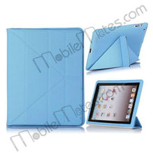 Small Hexagon Pattern PU Ultra Slim Folio Smart Cover Leather Stand Case for iPad 2/New iPad