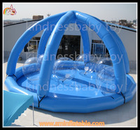 0.9mm pvc hight quality inflatable beach tent , inflatable air tent camping , inflatable airtight camping tent