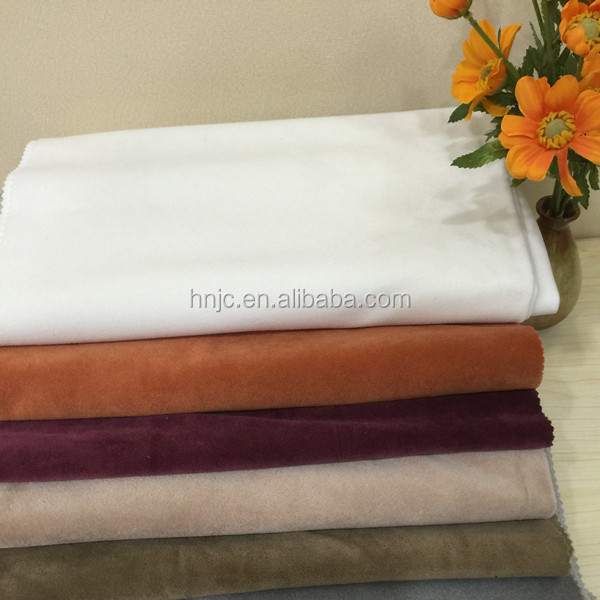 Wholesale 220GSM solid velboa velvet Fabric Manufacturer for home textile