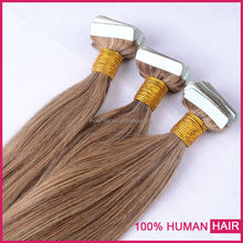 2016 Best Selling 26 Inches Indian Invisible Remy Tape Human in Hair Extensions ,Grade 8A Double Sided Tape Hair Extension