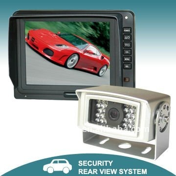Car rear view camera system with 5-inch Digital TFT LCD Monitor